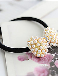 cheap -Women's Hair Ties For Daily Casual Imitation Pearl Rhinestone Alloy Golden