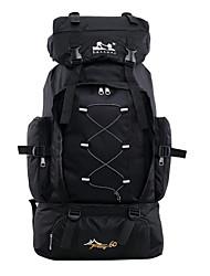 cheap -60 L Hiking Backpack Rucksack Multifunctional Waterproof Zipper Laptop Packs Wear Resistance Outdoor Camping / Hiking Hunting Fishing Terylene Nylon Black Dark Blue Red