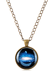 cheap -Men's Women's Pendant Necklace Moon Magic Simple Style Gemstone Glass Alloy Bronze Silver Necklace Jewelry For Party Daily Casual