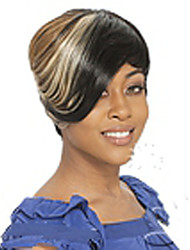 cheap -Synthetic Wig Straight Straight Wig Short Mixed Color Synthetic Hair 8 inch Women's Multi-color hairjoy