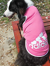 cheap -Dog Shirt / T-Shirt Blue / Pink / Gray Summer / Spring Sport Fashion-Lovoyager