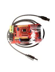 abordables -msp430 conseil de développement écran carte carte système minimum de base de couleur msp430f149 microcontrôleur avec usb downloader