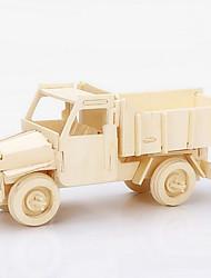 Недорогие -Игрушечные машинки 3D пазлы Пазлы Деревянные пазлы Модель дерева Строительная техника Игрушки Грузовик Дерево Куски