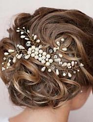 cheap -Women's Elegant Pearl Hair Combs Hair Charms Wedding Party