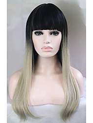 cheap -Synthetic Wig Straight Straight Wig Ombre Long Synthetic Hair Women's Ombre Hair Ombre StrongBeauty