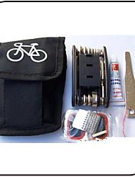 cheap -Multifunction Repair Tools & Kits Bike Repair Kit Waterproof Portable Durable Convenient For Road Bike Mountain Bike MTB Fixed Gear Bike Cycling Bicycle Stainless Steel ABS Black 1 pcs