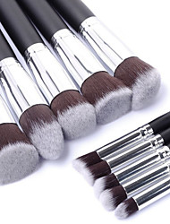 cheap -Professional Makeup Brushes Makeup Brush Set 10pcs Portable Travel Eco-friendly Professional Full Coverage Synthetic Wood Makeup Brushes for Blush Brush Foundation Brush Eyebrow Brush Eyeshadow Brush