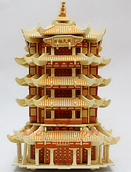 cheap -Chinese Architecture 3D Puzzle Wooden Puzzle Wooden Model Wood Kid's Adults' Toy Gift