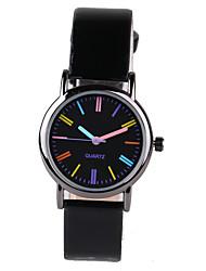 cheap -Women's Fashion Watch Quartz Quilted PU Leather Black Casual Watch Analog Ladies Elegant - Black