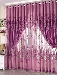 cheap -Country Sheer Curtains Shades One Panel Living Room   Curtains / Jacquard