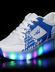cheap -Boys / Girls USB Charging LED  Sneakers Flat Heel Ruched Synthetic LED / Comfort / Novelty Spring / Summer / Fall Black / Pink / Blue / Party & Evening / LED Shoes / TPU (Thermoplastic Polyurethane