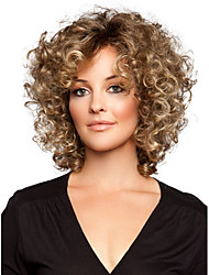 cheap -Synthetic Wig Curly Curly Wig Short Golden Brown Synthetic Hair Women's Brown StrongBeauty