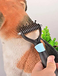 cheap -Grooming Hair Removal Product Shedding Tools Stainless Steel Plastic Comb Portable Pet Grooming Supplies Pink Blue