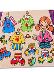 abordables -le panneau en bois fille casse-tête pour les enfants robe nouvelle