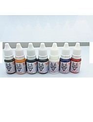 cheap -1 Set BaseKey Tattoo Ink  7x10ml colors Red Brilliant Blue White Black Green Golden Dark Brown