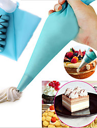 cheap -6pcs Cake Decorating Kit Icing Bag Tips Bake Tool Paste Pastry Piping