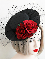 cheap -Lace / Fabric Hats with 1 Wedding / Special Occasion Headpiece