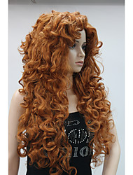 cheap -new fashion hair women s cosplay party wigs copper red long curly bangs full wig
