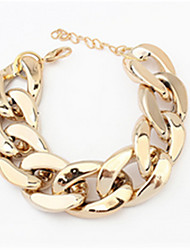 cheap -Pearl Chain Bracelet Ladies Party Work Casual Vintage Alloy Bracelet Jewelry Gold / Silver / Black For Party
