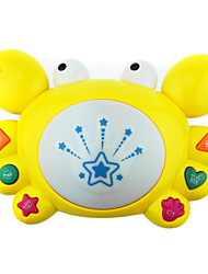 cheap -Fancy On The Drum Take Drum Music, Cartoon Kid-Learning Electric Toy Baby Crabs With Lights