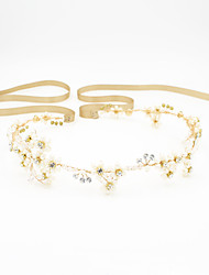 cheap -Pearl / Rhinestone Headbands / Head Chain with Scattered Bead Floral Motif Style / Flower / Crystals / Rhinestones 1pc Wedding / Special Occasion Headpiece