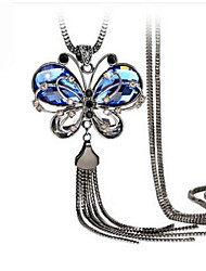 cheap -Women's Crystal Pendant Necklace Ladies Vintage European Fashion Crystal Resin Rhinestone Blue Necklace Jewelry For Wedding Party Daily Casual Work