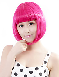 cheap -Synthetic Wig Straight Straight Bob Lace Front Wig Pink Short Rose Synthetic Hair Women's Fashionable Design Cosplay Pink Neitsi