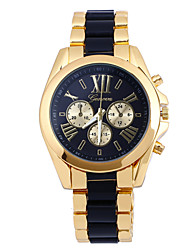 cheap -Men's Wrist Watch Quartz Multi-Colored Analog Black Yellow Blue / Stainless Steel
