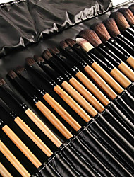 cheap -Professional Makeup Brushes Makeup Brush Set 32pcs Eco-friendly Full Coverage Artificial Fibre Brush Wooden Makeup Brushes for / #