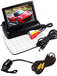 cheap -4.3 inch foldable LCD parking monitor car rearview mirror 2 video input reversing camera DVD+Car rear view camera waterproof car backup Universal vision camera butterfly for DVD rear view image