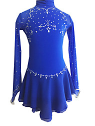 cheap -21Grams Figure Skating Dress Women's Girls' Ice Skating Dress Dark Purple Fuchsia Dark Red Elastane Outdoor clothing Competition Skating Wear Handmade Classic Long Sleeve Ice Skating Figure Skating