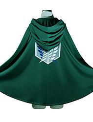 abordables -Inspiré par L'Attaque des Titans Eren Jager / Levi Ackerman Manga Costumes de Cosplay Japonais Cosplay à Capuche Imprimé Manches Longues Manteau Pour Homme / Femme