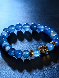cheap -Crystal Bead Bracelet Head Ladies Crystal Bracelet Jewelry Rose / Brown / Blue For Christmas Gifts Daily Casual