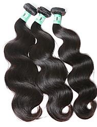 cheap -3 Bundles Malaysian Hair Body Wave Natural Color Hair Weaves / Hair Bulk Human Hair Weaves Human Hair Extensions
