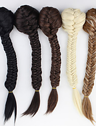 cheap -excellent quality synthetic 22 inch long curly clip in ribbon ponytail hairpiece extensions 20 colors available