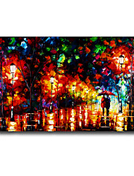 cheap -60*90cm Hand Painted Oil Painting Landscape With Frame Home Decoration