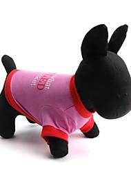 cheap -Dog Shirt / T-Shirt Dog Clothes Floral / Botanical Green Pink Cotton Costume For Summer Women's Fashion