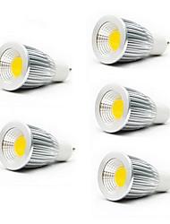 cheap -5pcs 5 W LED Spotlight 3000/6500 lm GU10 GU5.3(MR16) E26 / E27 MR16 1 LED Beads COB Warm White Cold White 85-265 V / 5 pcs / RoHS / CCC