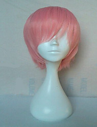 cheap -high quality pink synthetic hair cosplay wig short straight animated wigs man s cartoon wigs party wigs freeshipping Halloween