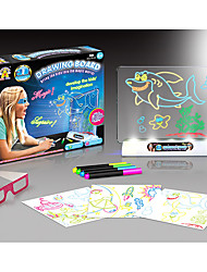 cheap -YIJIATOYS Drawing Toy Drawing Tablet LED Lighting Flourescent 3D Plastic Paper ABS 100 pcs Boys' Girls' Toy Gift