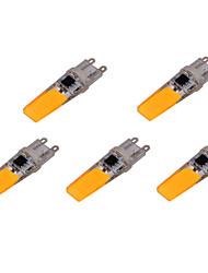 Недорогие -ywxlight® 5 шт. g9 cob 6 Вт 500-600lm светодиодные двухконтактные светильники теплый белый холодный белый светодиодные лампы кукурузы люстра лампы переменного тока 220-240 В