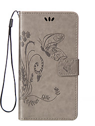 cheap -Case For LG G3 Mini / LG G3 / LG Wallet / Card Holder / with Stand Full Body Cases Butterfly Hard PU Leather / LG G4 / LG K10