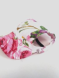 cheap -Cat Dog Hoodie Bandanas & Hats Sport Hat Dog Clothes Pink Costume Nylon Flower Holiday S M