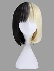 cheap -Cosplay Wigs Women's 14 inch Heat Resistant Fiber black / silver Anime / Punk Lolita Dress