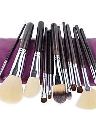 cheap -Professional Makeup Brushes Makeup Brush Set 12 Portable Travel Eco-friendly Professional Full Coverage Horse Hair Blending Premium Pony / Synthetic Hair / Horse Wood for Cream Liquid Powders Makeup