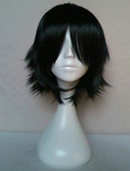 cheap -Synthetic Wig Cosplay Wig Straight Style With Bangs Wig Black Synthetic Hair Women's Black Wig Short hairjoy