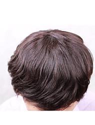 abordables -Cheveux humains Postiches Droit 100 % Tissée Main Mono filament