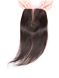 cheap -virgin brazilian closure 3 5 4 swiss lace closure straight hair middle free 3 part top lace closure