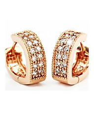 Недорогие -Жен. Серьги-кольца Серьги, обнимающие мочку уха Дамы Камни по месяцу рождения Итальянский Стерлинговое серебро Серебристый Серьги Бижутерия Розовый Назначение