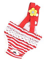 cheap -Dog Pants Puppy Clothes Stripes Casual / Daily Dog Clothes Puppy Clothes Dog Outfits Red / White Blue Costume for Girl and Boy Dog Cotton XS S M L XL XXL